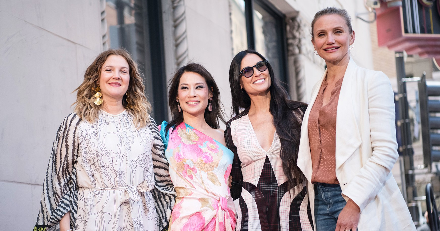 Cameron Diaz, Drew Barrymore and Demi Moore Support 'Charlie's Angels' Costar Lucy Liu at Walk of Fame Ceremony