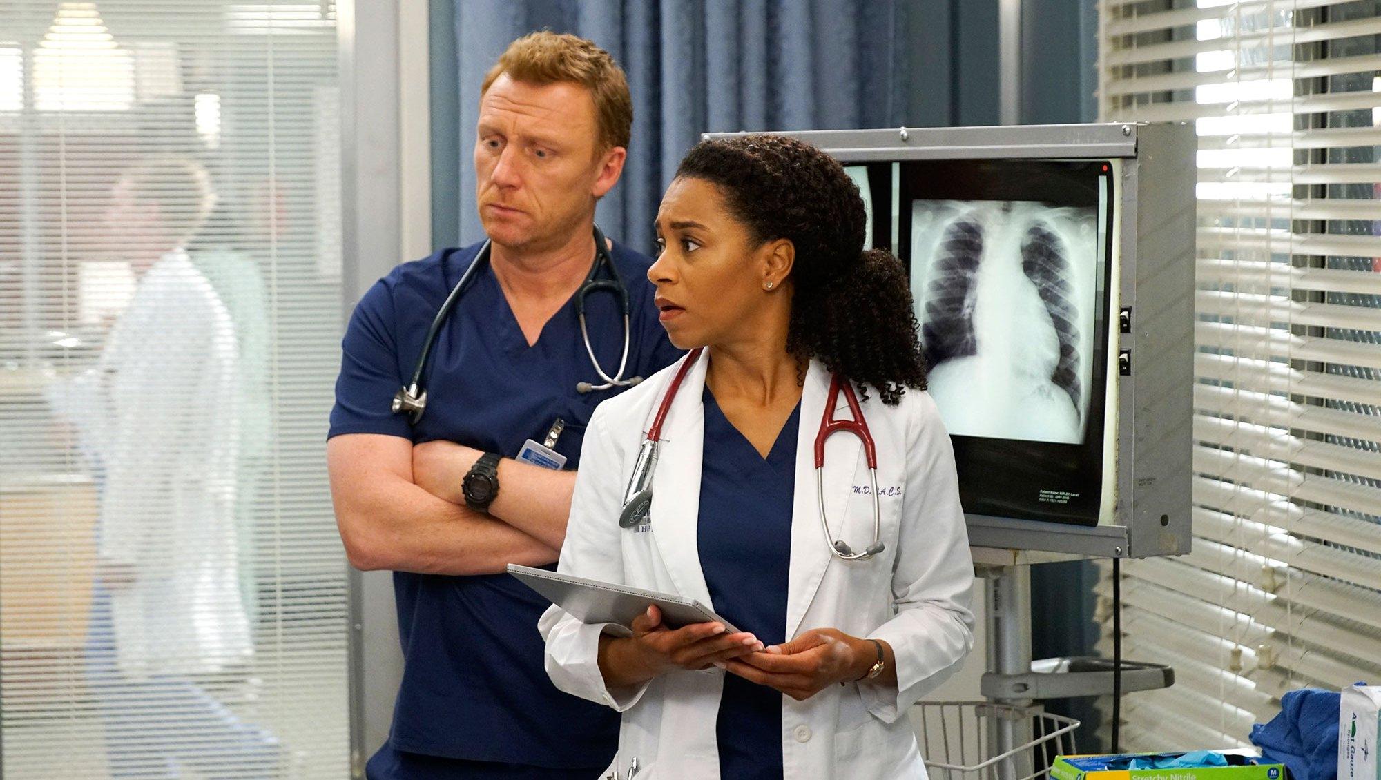 Grey's Anatomy Recap Kevin McKidd and Kelly McCreary