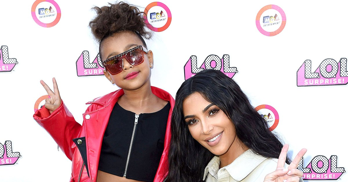 Kim Kardashian Films Music Video With North on Maternity Leave