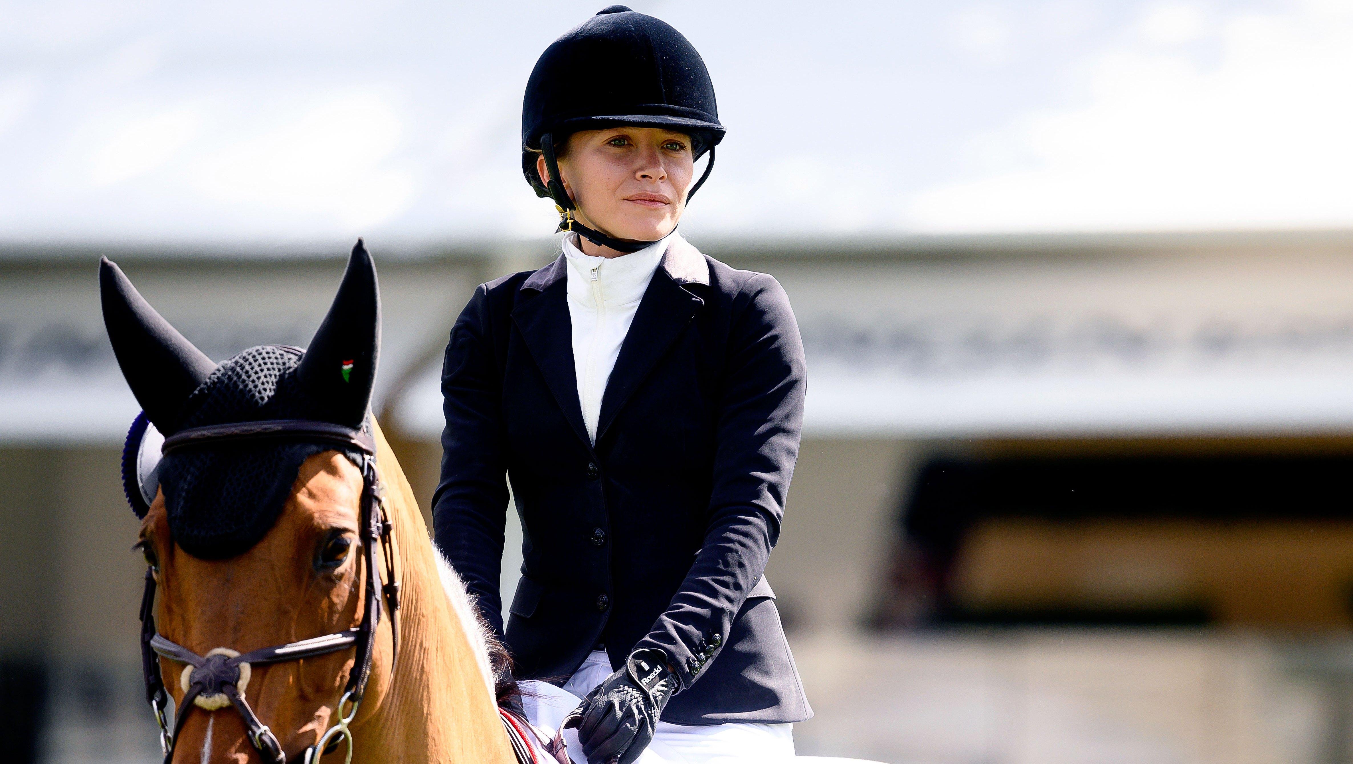 Mary-Kate Olsen Kisses Husband Olivier Sarkozy at Horseback Riding Event