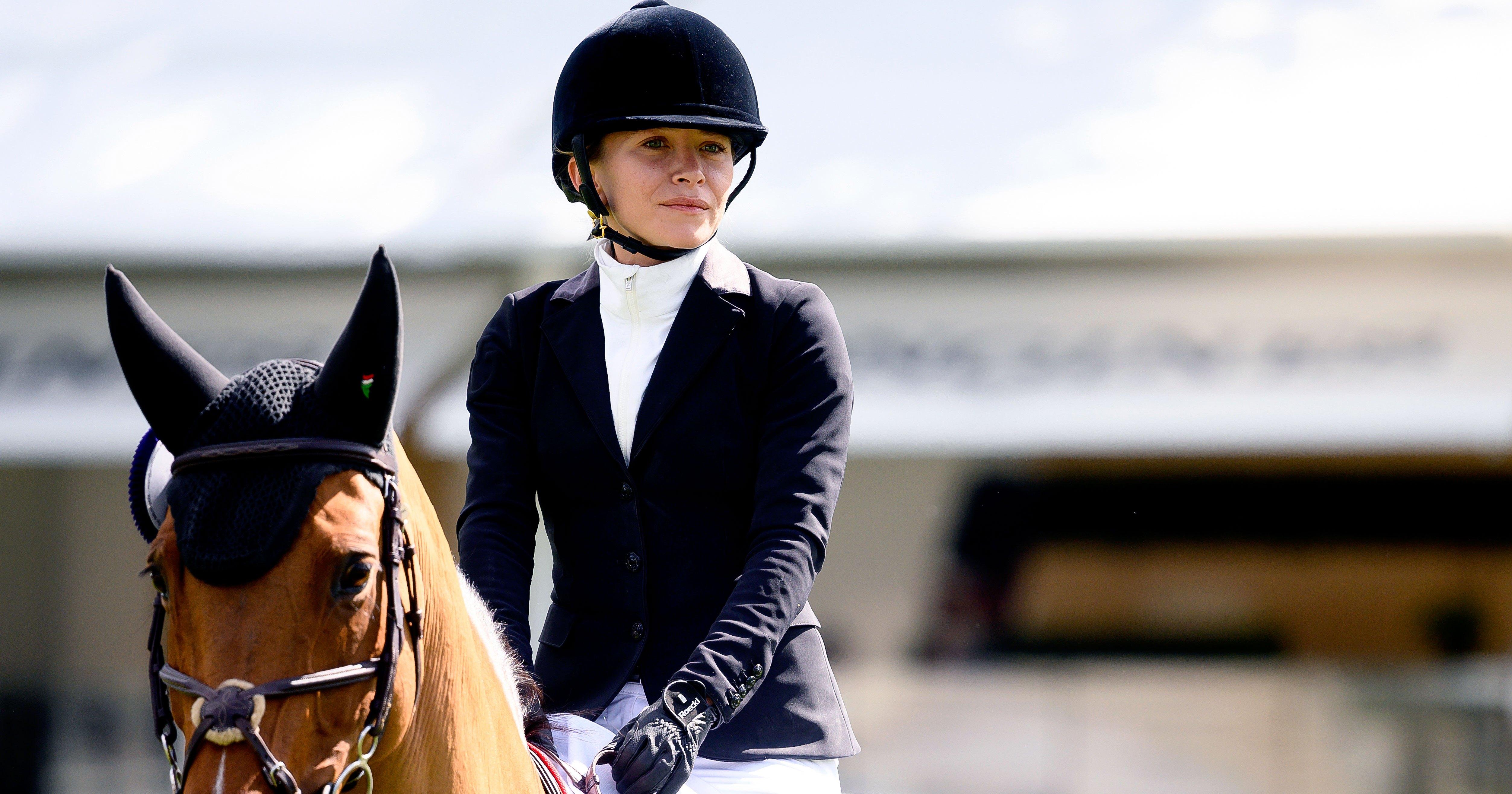 Mary-Kate Olsen Kisses Husband Olivier Sarkozy at Madrid Horseback Riding Event: Photos