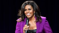 Michelle Obama Style Purple Suit