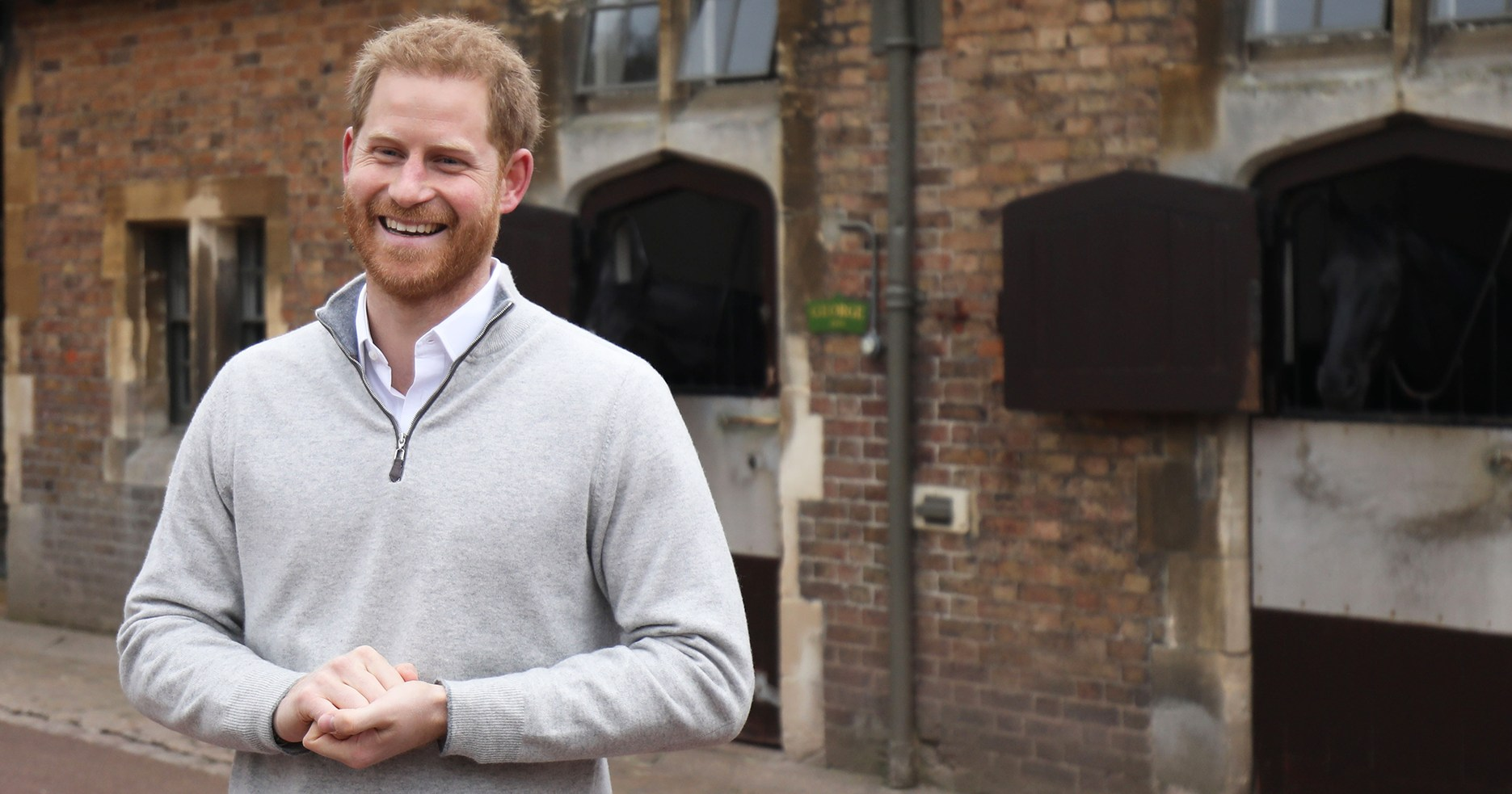 Prince Harry Can't Contain His Happiness Over Royal Baby Boy's Birth
