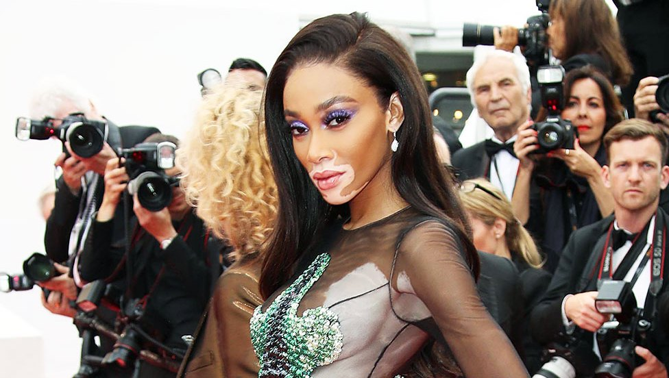 Winnie Harlow Cannes Film Festival Sheer Gown Nearly Naked Red Carpet Look