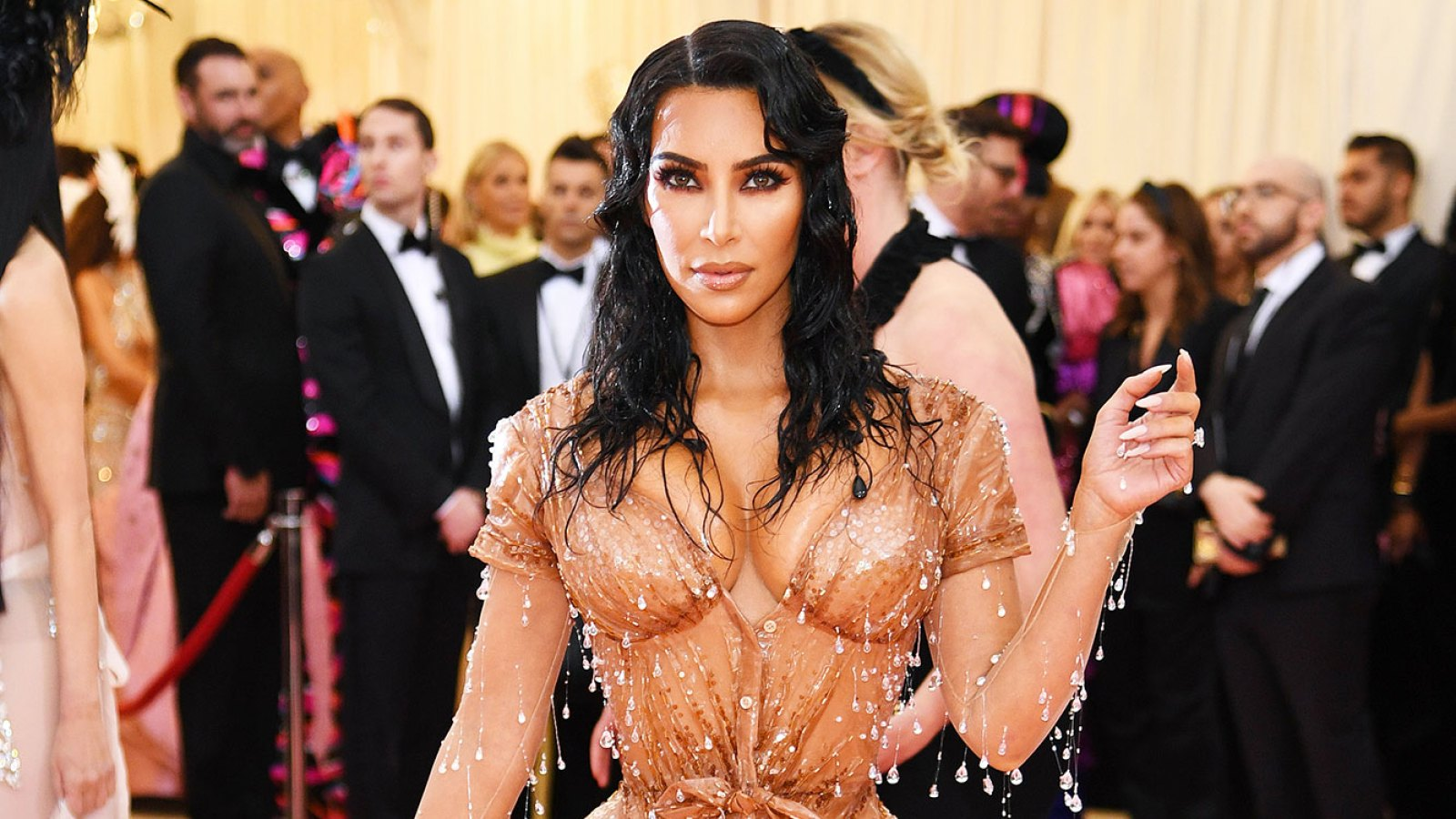 bcf9ab47e5 Kim Kardashian Says She Could 'Hardly Sit' in Met Gala Look