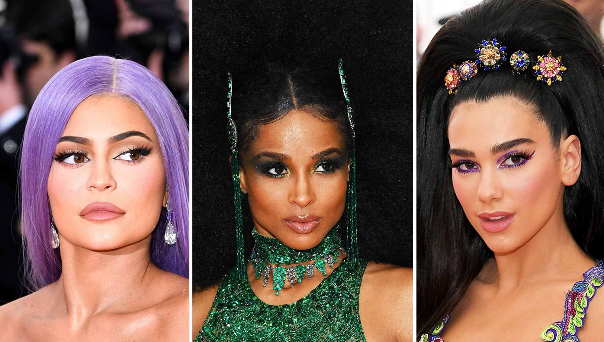 Kylie Jenner, Ciara, and Dua Lipa met gala 2019 wigs