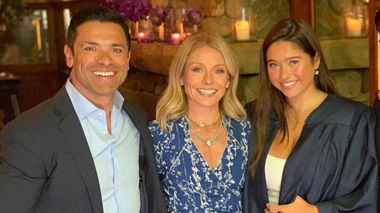 Kelly Ripa And Mark Consuelos Celebrate Best Fathers Day Gift Daughter Lolas 18th Birthday