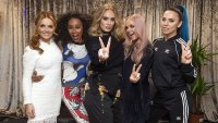 Adele Gives The Victory Sign And Poses with the Spice Girls