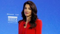 Amal Clooney Red Outfit July 10, 2019