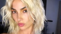 Lily Aldridge Blonde Wig Instagram July 14, 2019