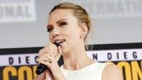 Scarlett Johansson Engagement Ring 2019 Comic-Con International