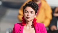 Bekah Martinez Fuchsia Suit February 12, 2018