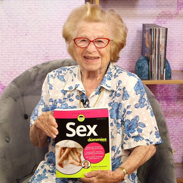 Dr. Ruth Reveals the No. 1 Sex Question She Gets Interview Us Weekly Studio