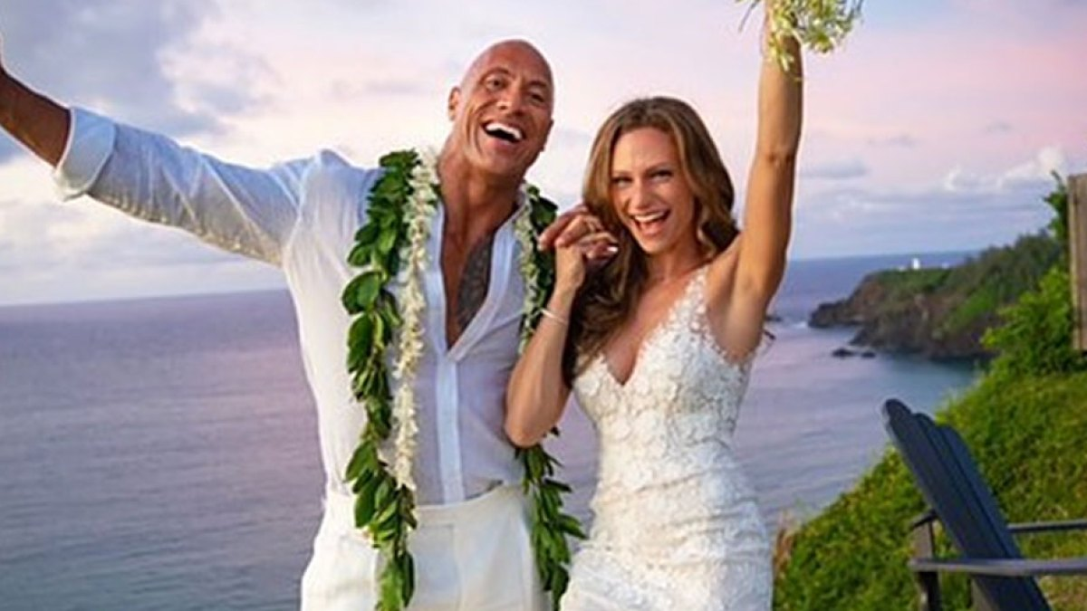 All About Dwayne 'The Rock' Johnson and His New Wife Lauren Hashian's Wedding Outfits