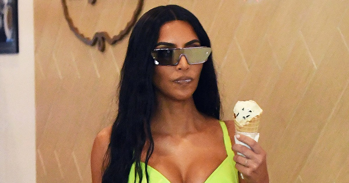 Kim Kardashian, Bella Hadid and More Celebrities Who Scream for Ice Cream