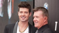 Robin Thicke With Late Father, Alan Thicke