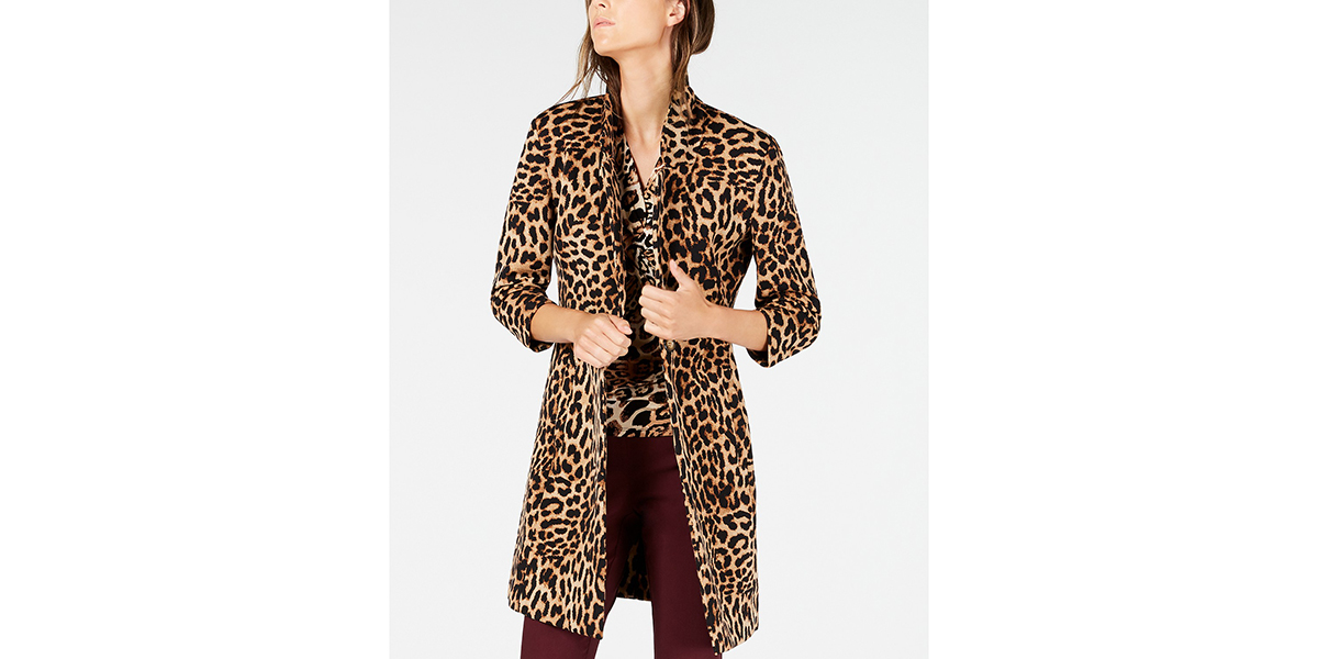 Sale On Sale Get This Trendy Leopard Jacket Marked Down At Macys