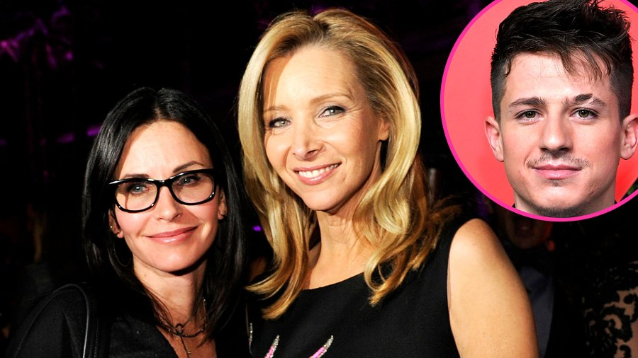 Courteney Cox Lisa Kudrow Celebrate Friends With Charlie Puth