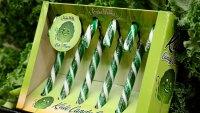 Kale Candy Canes Product Photo On Shelf