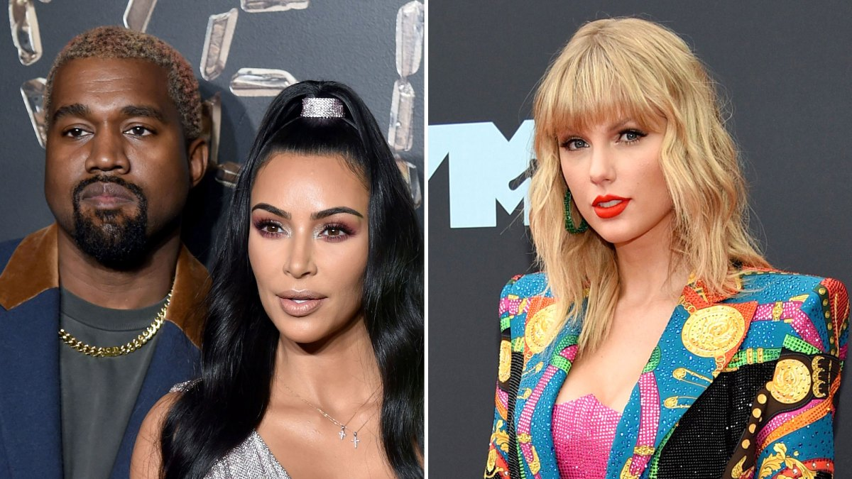 Kim Kardashian Kanye West React To Taylor Swift Bringing Up Feud