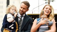 Ryan Reynolds and Blake Lively with their Two Chidlren at Hollywood Star Ceremony My Asshole Kids Don't Let Me Sleep