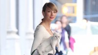 Taylor Swift With White Cat Olivia