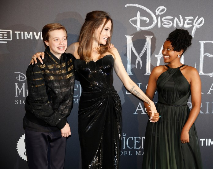 Image result for angelina jolie and kids maleficent premiere