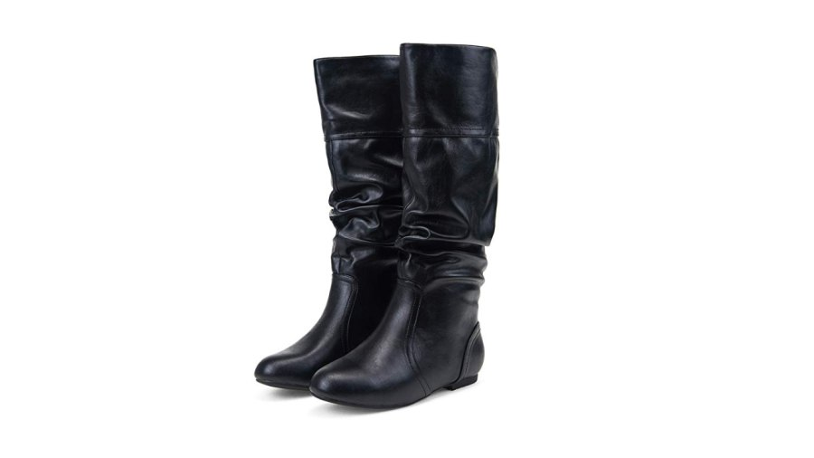 JEOSSY Women's Mid Calf Slouch Boots