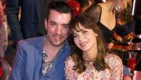 Jonathan Scott and Zooey Deschanel Double Date With Drew Scott and Linda Phan at 'DWTS'