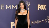 Kim Kardashian Opens Up About Her Use of CBD Wearing Vivienne Westwood Vintage Black Dress 2019 Emmys