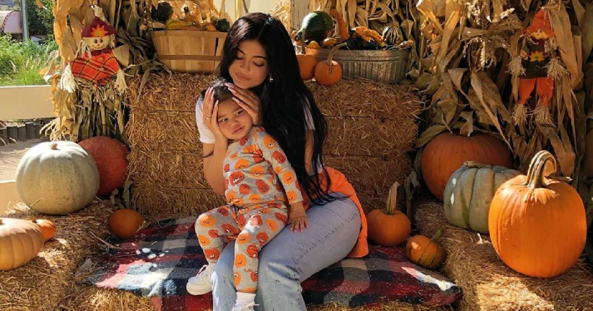 Kylie Jenner Enjoys Fun Fall Day With Daughter Stormi and Niece True at Pumpkin Patch