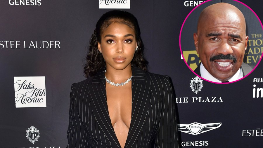 Lori Harvey Arrested for Hit and Run After Car Accident Fashion Week Black Pinstripe Suit Steve Harvey