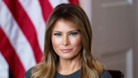 Melania Trump Grey Dress October 9, 2019