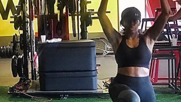 Michelle Obama Shows Abs At Gym