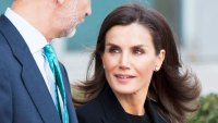 Queen Letizia Black Suit October 20, 2019