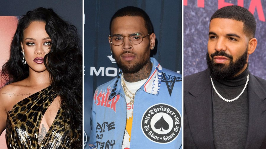 Rihanna Chris Brown Celebrate Drake S Birthday Separately