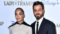 Tessa Thompson and Justin Theroux Dogs Have Fun Playdate