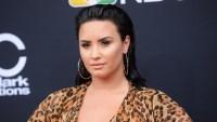 Demi Lovato Cradles Baby Bump for 'Will & Grace'
