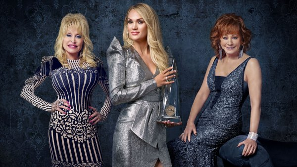 Hosts Carrie Underwood, Reba McEntire and Dolly Parton CMA Awards 2019