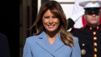 Melania Trump's Periwinkle Coat Is a Winter Fashion Essential