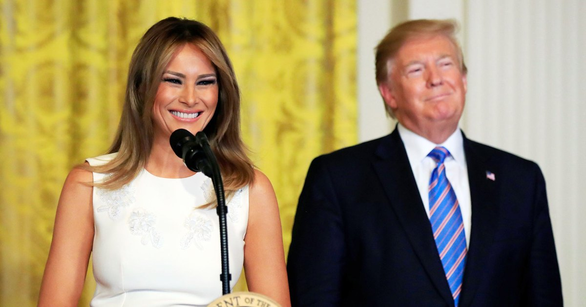 Melania Trump Does Chic Patriotic Colors