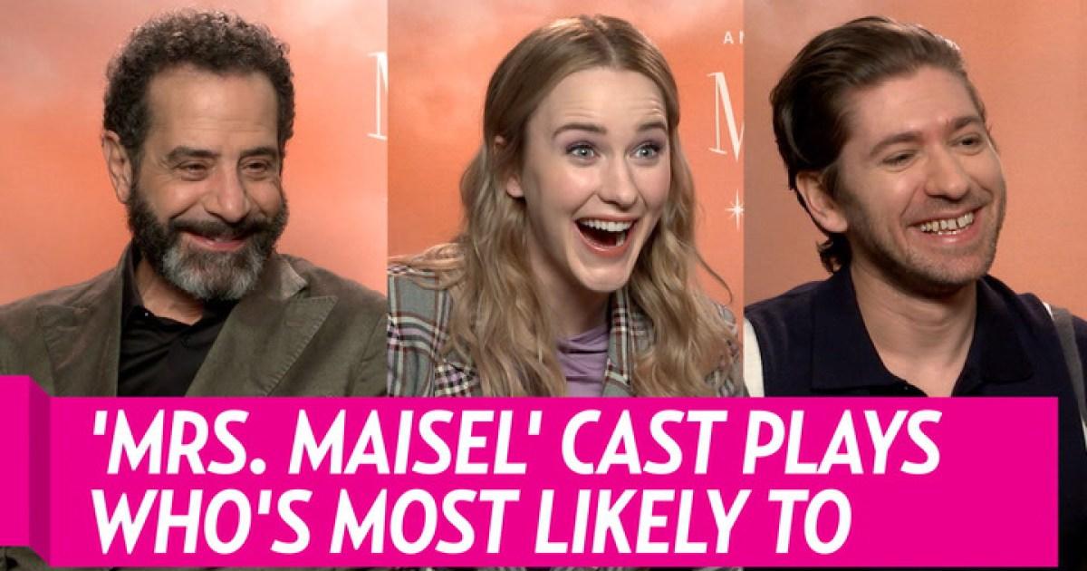 """Mrs Maziel cast plays most likely to - مسرحيات """"السيدة الرائعة ميسل"""" يلعب """"من هو الأكثر احتمالاً"""""""