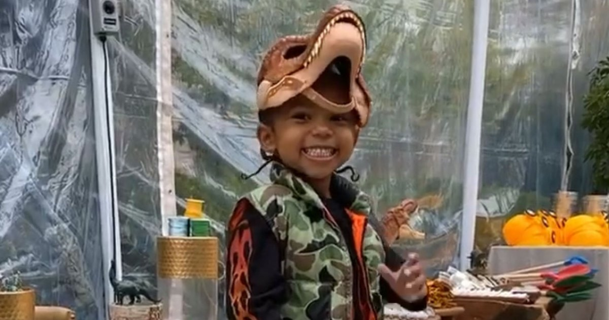 Kim Kardashian Throws Son Saint a 'Jurassic Park'-Themed Birthday Party: Pics