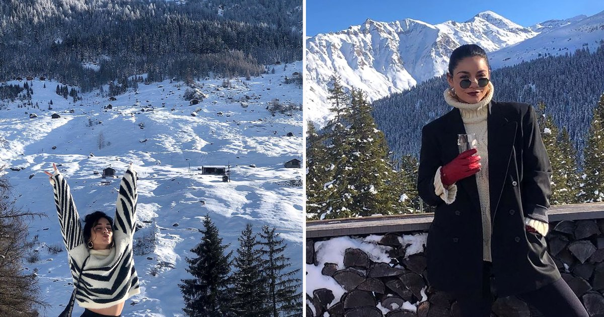 Vanessa Hudgens Traveled to the Swiss Alps and Experienced an Actual Winter Wonderland — See the Photos