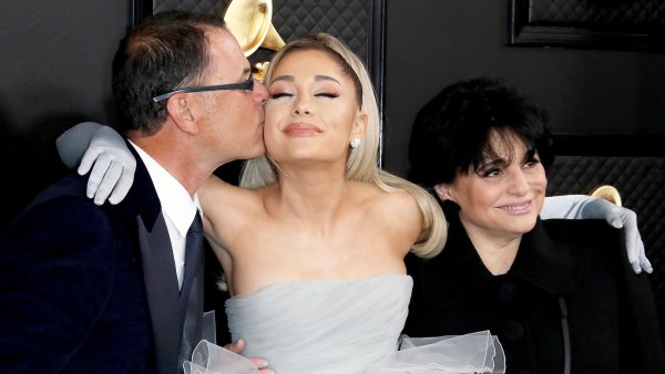 Ariana Grande Walks the 2020 Grammys Red Carpet With Mother and Father After Fallout