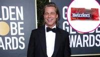 Brad Pitt Red Carpet Twizzlers Golden Globes 2020