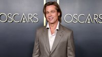 Brad Pitt Wearing Brioni Wore a Nametag to the Oscars Luncheon