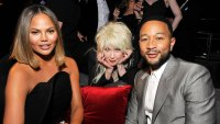 Chrissy Teigen Cyndi Lauper and John Legend at Grammys 2020 After Party