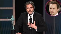 Joaquin Phoenix Outstanding Performance by a Male Actor Joker Tribute Heath Ledger SAG Awards 2020