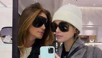 Kaia Gerber and Cindy Crawford Mother-Daughter Twinning